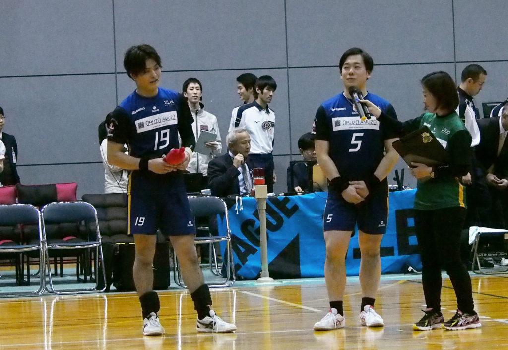 奈良ドリーマーズリベロ #19石渡選手、#5小寺選手
