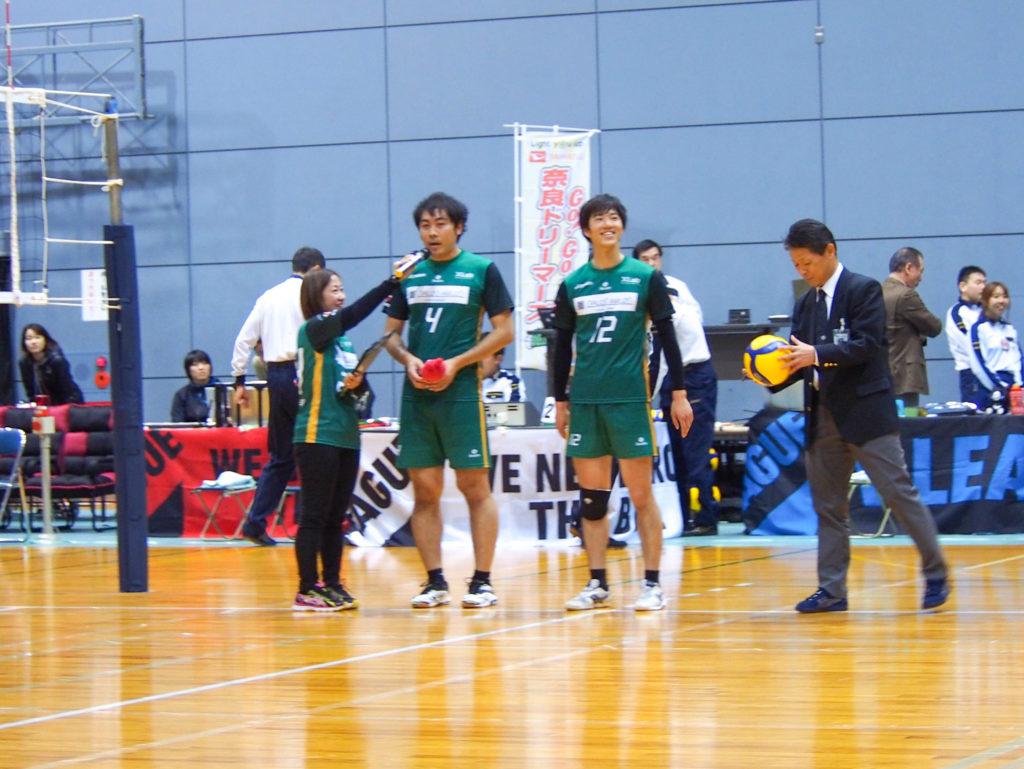 奈良ドリーマーズ選手、下町選手、川村選手