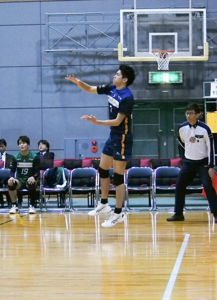バレーボール選手#7有津選手