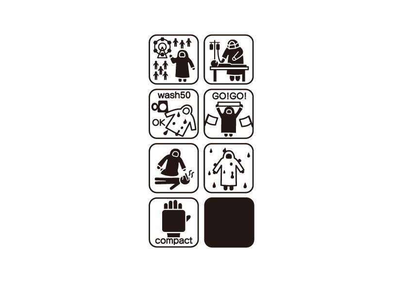 『ポータブルガウン』(ケース部分)インフォグラフィック